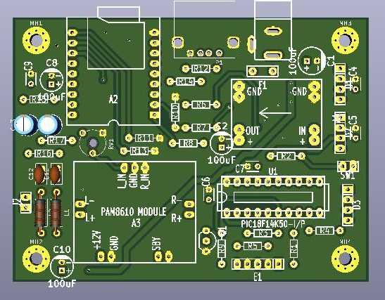 XY-V17B Board Layout
