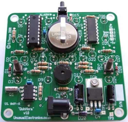 Quinhora base-5 clock kit