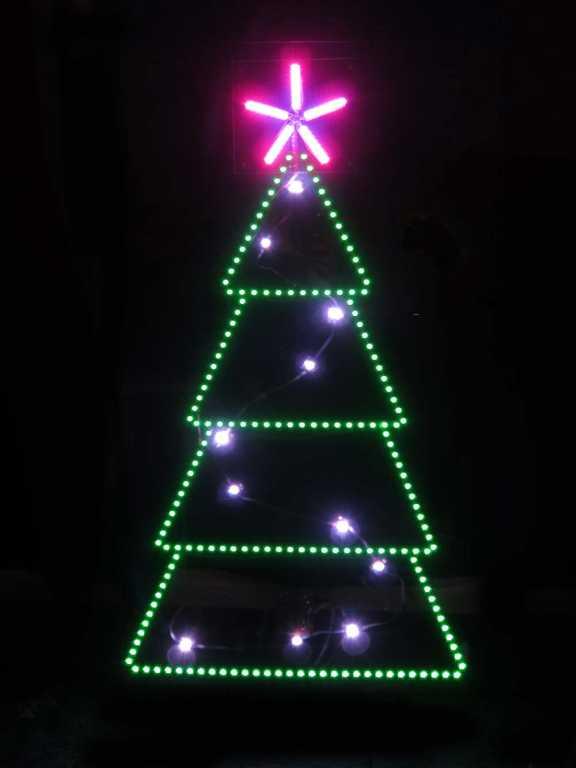 Led Lighted Christmas Trees